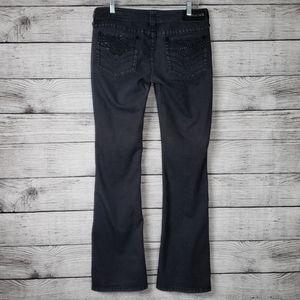 Affliction Dark Wash Rhinestone Jeans